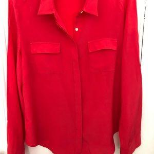 Ann Taylor classic silk camp shirt
